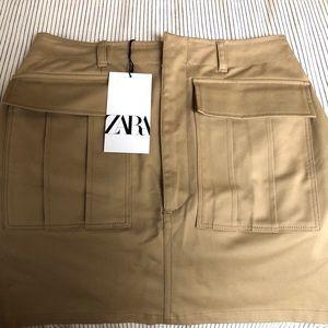 Zara Cargo Mini Skirt
